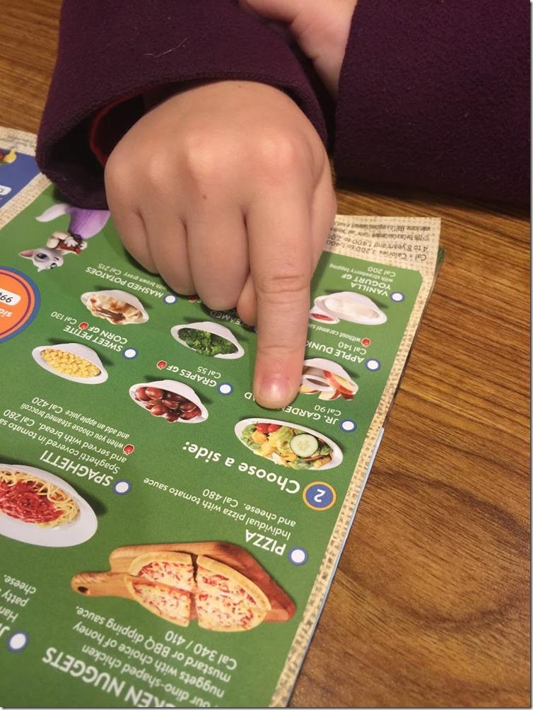Denny's kids lunch menu