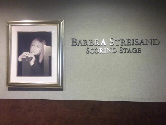 Barbra Streisand Scoring Stage