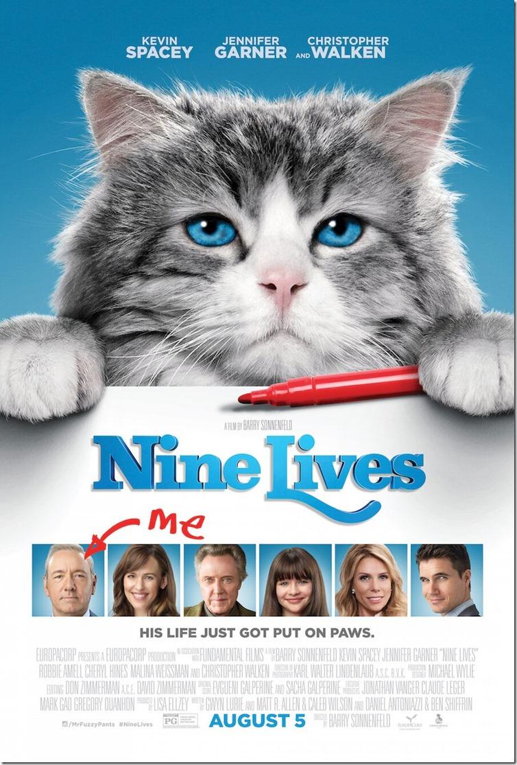 nine lives movie poster