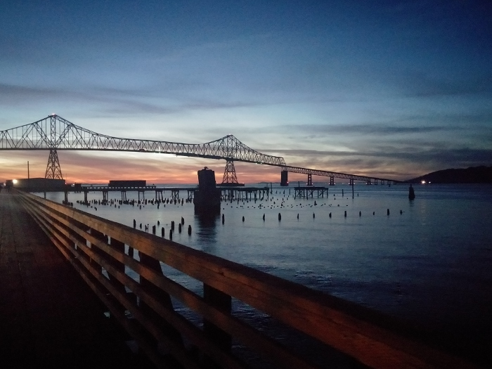 Astoria Bridge at sunset