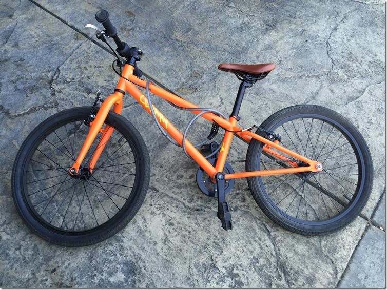 Cleary orange bike