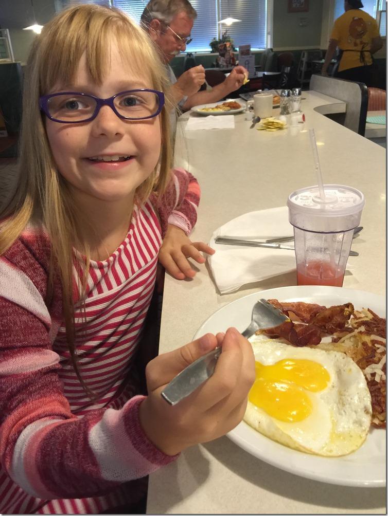 Zoe eating