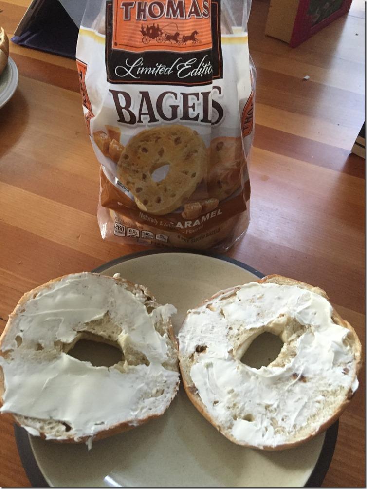 salted caramel bagels