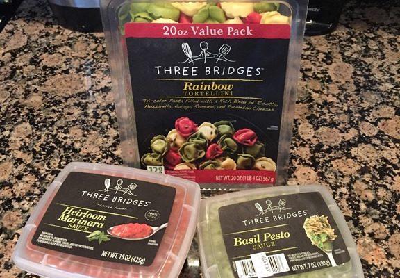 Three Bridges Rainbow Tortellini Three Ways