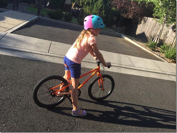 zoe on cleary bike
