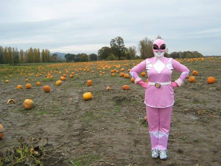 Beeb as Pink Ranger