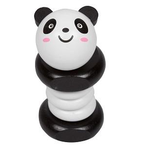 Svan Panda Wooden Clacker Rattle
