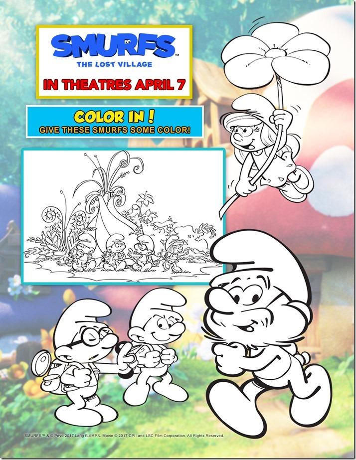 Coloring Page - Smurfs_rgb