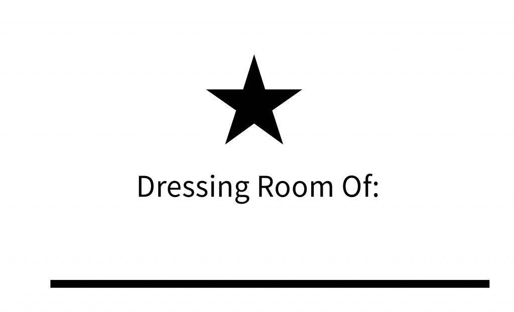 Star Dressing Room Sign