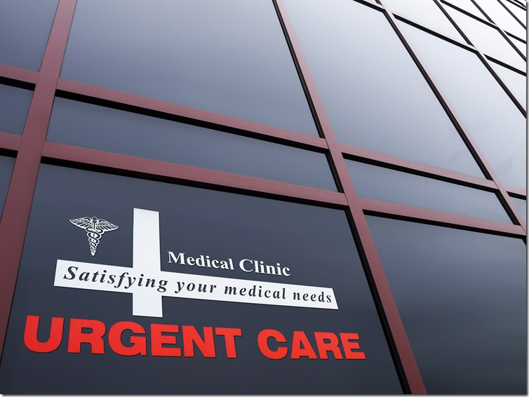 Urgent Care Building and sign