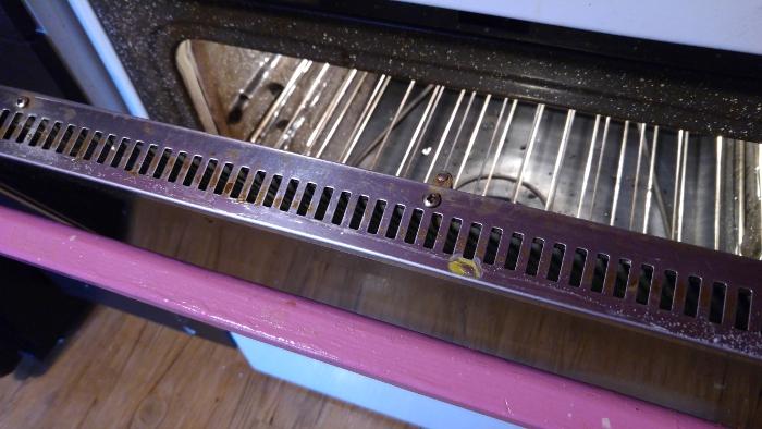 Egg inside the oven