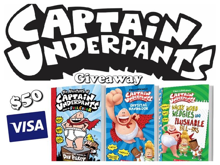 captain underpants 50 giveaway