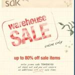 Save 80 Percent at The Sak