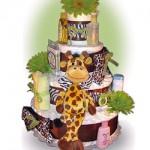 Lil Baby Cakes Safari Giraffe 4 Tier Diaper Cake #giveaway
