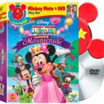 A Rainy Day Treat! New Mickey Mote DVD: Minnie's Masquerade on DVD February 8th.