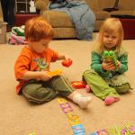Family Game Night This Week We're Playing Mega Bloks Dominos Build Game