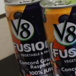Send Healthy Lunches to School V8-Fusion Concord Grape Raspberry