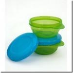 Playtex's Twist 'n ClickTM Flip Top Snacker & Easy Stack Bowls
