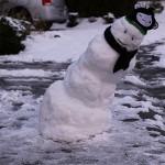 The Leaning Snowman