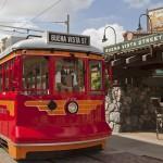 Red Car Trolleys Singing Down Buena Vista Street in California Adventures