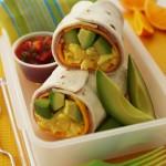 Ham & Avocado Egg Breakfast Burritos Recipe