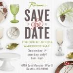 Rosanna's Bi-Annual Warehouse Sale December 1st