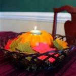 Halloween Fun! DIY Easy Pumpkin Candle Holder Centerpiece