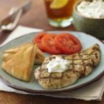 Greek Chicken @TysonFoods with Yogurt Cucumber Sauce Recipe