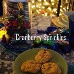 Cranberry Sprinkles Cookie Recipe