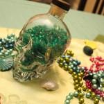 A DIY Mardi Gras Skull Center Piece