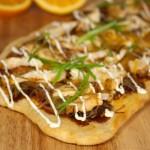 Southwestern Orange-BBQ Chicken Flatbread Recipe