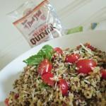 Tomato Basil Quinoa Salad Recipe (With Bob's Red Mill Tri-Color Quinoa)