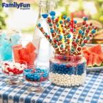 Some Family Fun Fourth of July Pretzel Sticks/Edible Sparkler Recipe