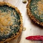 Recipe: Spinach Tart with Garlic Sesame Crust
