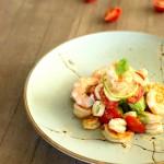 Cilantro-Lime Shrimp With Avocado-Tomato-Hearts of Palm Salad