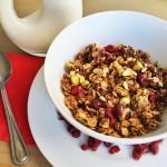 Pistachio Cranberry Granola Recipe