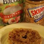 Peanut Butter Bacon Bagel Recipe