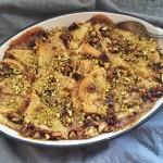 Pistachio Chewy Bite Bread Pudding Recipe
