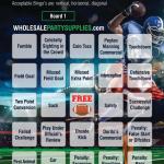 Free Printable Football Bingo Card