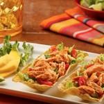 Spicy Salmon Mango Tortilla Boats Recipe