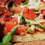 Recipe: Fire Roasted Tomato Bruschetta With Baby Back Ribs