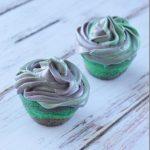 Black and Green Swirl Mini Cupcakes Recipe