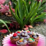 Mini Spring Bean, Bunny, & Rose Cupcakes Recipe