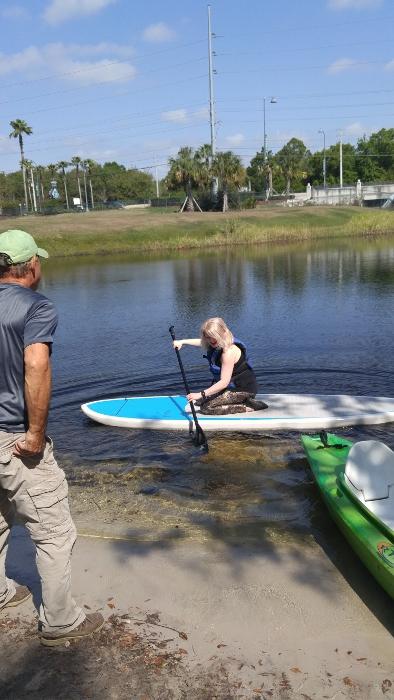I prefer sit-down paddle boarding