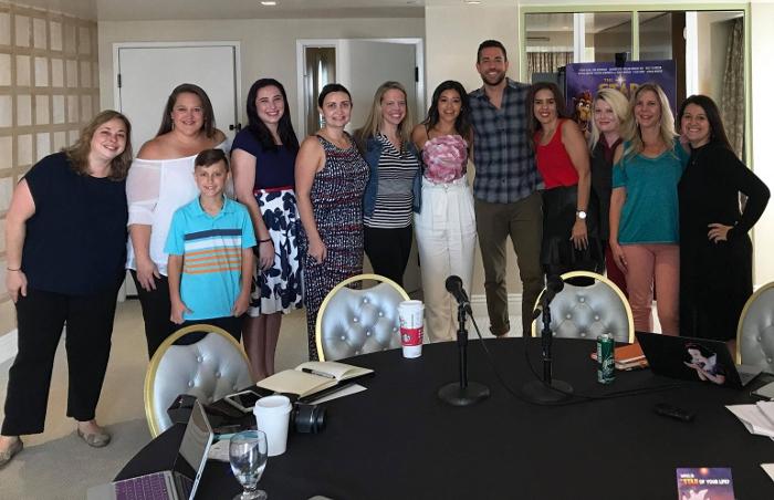 Group photo with Zachary Levi & Gina Rodriguez