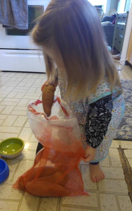 Making candied yams