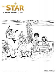 The Star Coloring Page 1