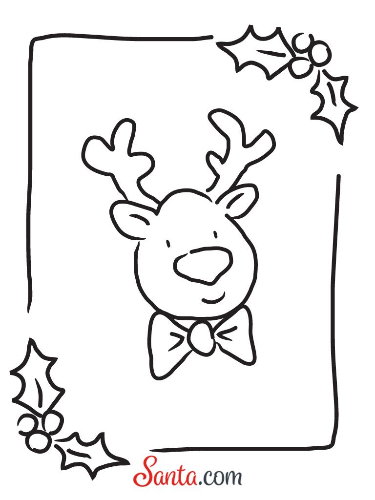Free reindeer coloring page