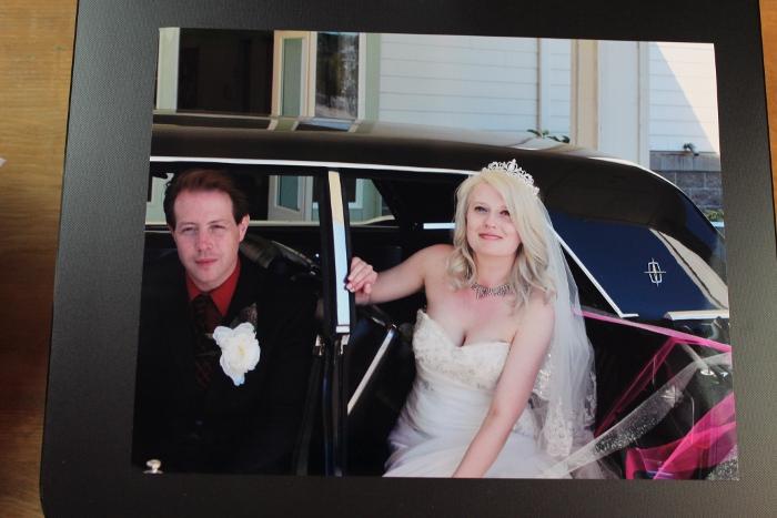 Bridal portrait printed