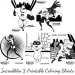 Incredibles 2 Printable Coloring Sheets